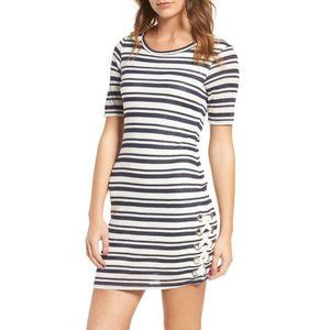 Splendid Topsail stripe laced blue white dress S
